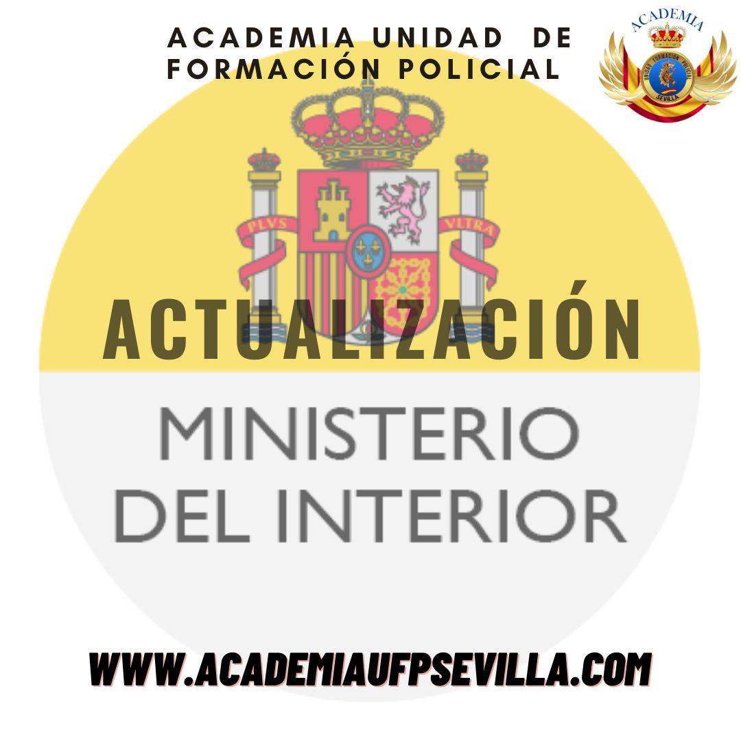 Actualización Ministerio del Interior